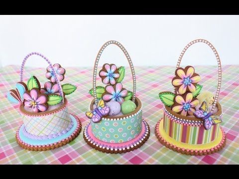 NEW COOKIE DECORATING VIDEO: How to Make Contoured Cookie Baskets by Julia M Usher on her YouTube channel, Recipes for a Sweet Life! Enjoy!
