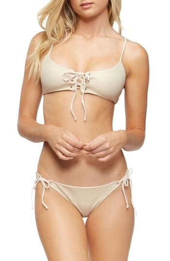 Free shipping and returns on TAVIK Reign Bikini Top at Nordstrom.com. A lace-up front adds a flirty touch to this scoop-neck bikini top cut from a textured stretch fabric in a versatile neutral hue.
