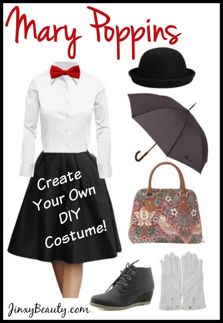 You can create your own Mary Poppins DIY Costume with a few simple pieces. We can even show you where to find the pieces you don't have!