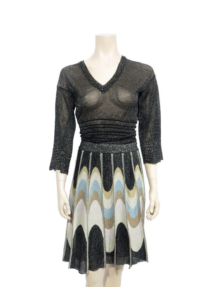 Missoni Shimmer Knit Midi Skirt www.sabrinascloset.com