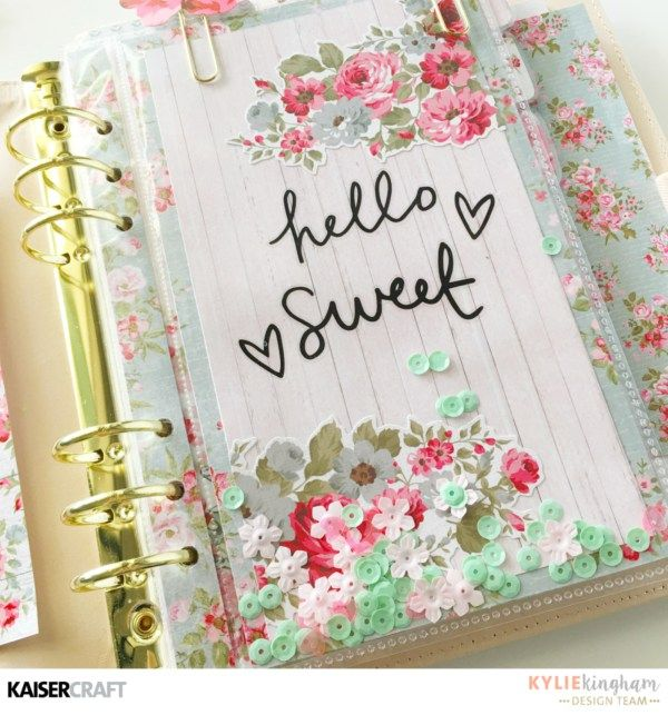 High Tea Planner set up with Kylie - Kaisercraft Official Blog