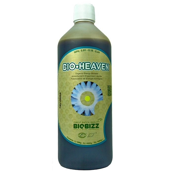 BioBizz Bio-Heaven:  BioBizz Bio-Heaven is an all-organic biological stimulant for your plants. Created from natural protein sources Bio Heaven is packed full of amino acids (the basic building blocks of proteins and enzymes) which are essential for the healthy structure and metabolism of your plants.