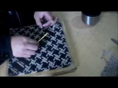 taller de telar: bastidor cuadrado - YouTube