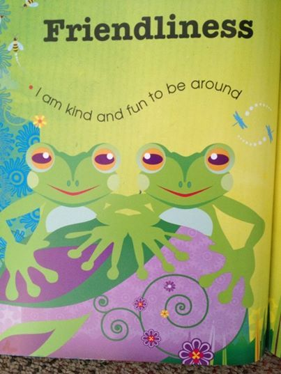 This page is from The Little Book of Harmony.  Friendliness is one of the great connectors.  We all know what a smile can do!