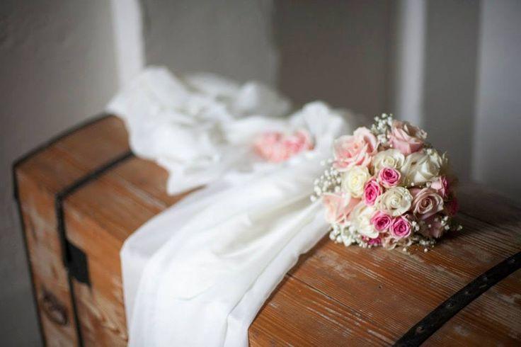 Il bouquet da lancio è in Villa che aspetta la sposa al ritorno dalla cerimonia