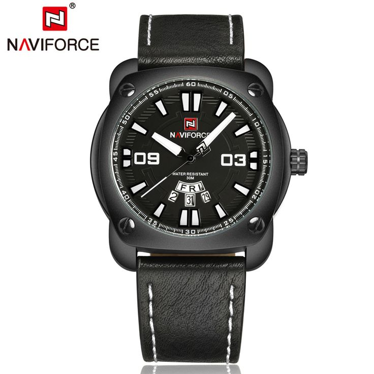 Naviforce Watch Men Waterproof Genuine Leather Bracelet Auto Date Week Quartz Men Watches Montres Homme LX74     Tag a friend who would love this!     FREE Shipping Worldwide     Get it here ---> https://shoppingafter.com/products/naviforce-watch-men-waterproof-genuine-leather-bracelet-auto-date-week-quartz-men-watches-montres-homme-lx74/