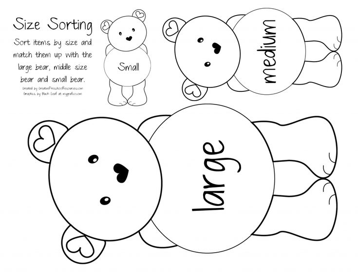 teddy bear size sort: Preschool Teddy Bears Theme, Preschool Bears Theme, Bears Sorting By Size, Bears Size, Three Bears, Bears Picnics, Brown Bears, Letters, Size Sorting