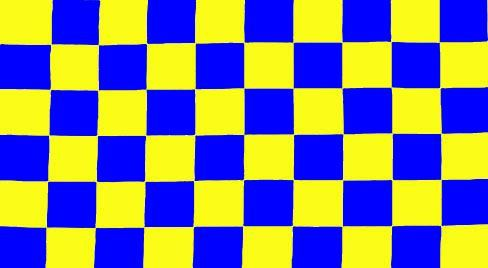 Yellow & Blue Checkered Flag - 3' X 5' | Flags for Sale