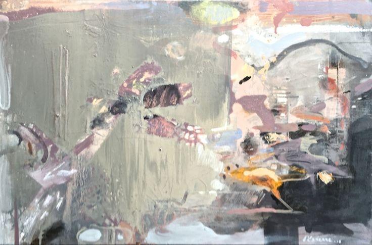 ELAINE d'ESTERRE - Lake Mungo overview, 2016, oil on canvas, 50x80 cm. Also at http://elainedesterreart.com and http://www.facebook.com/elaine.desterre/ and http://instagram.com/desterreart/