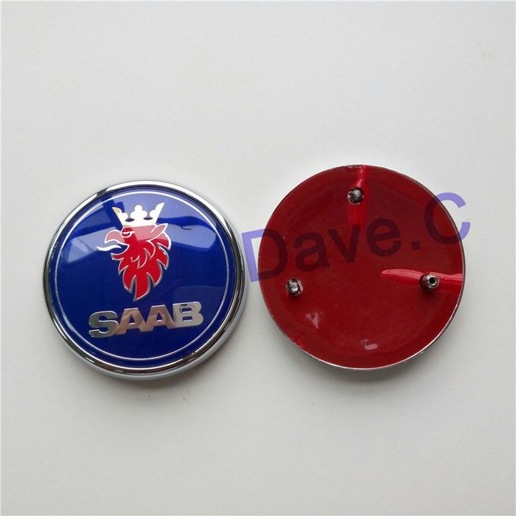 Forten Kingdom For 9-3 93 2004-2010 Custom Rear Trunk Blue Emblem Logo 70mm With Epoxy Resin Tail Badge 3 Pins 12831661