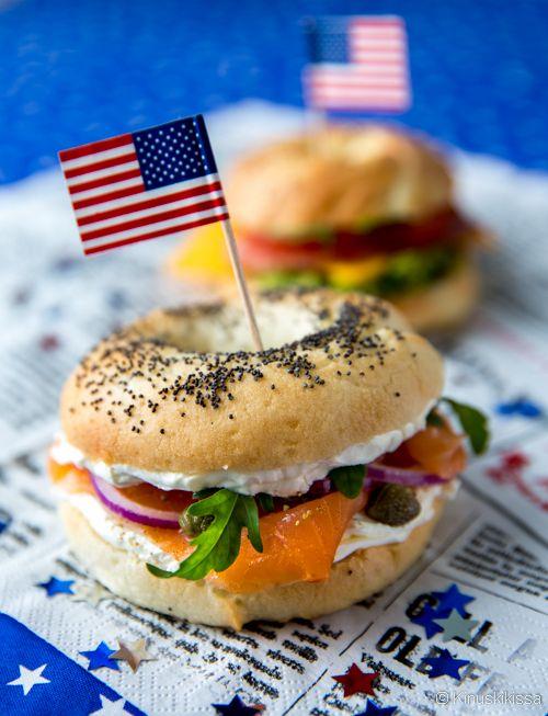 New York Style Bagels - amerikkalaiset bagelit   Reseptit   Kinuskikissa