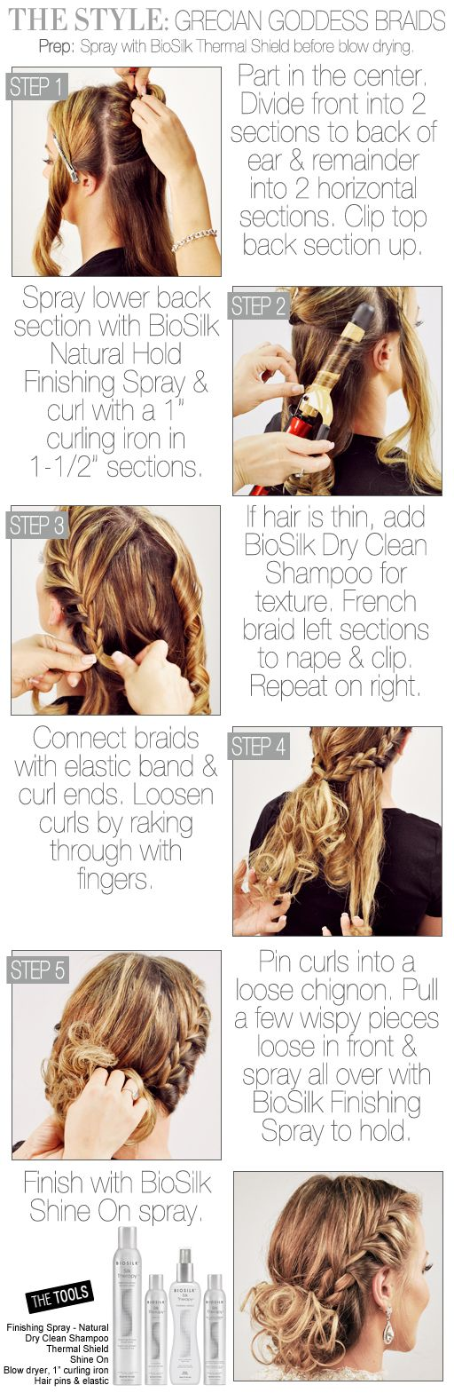 Hair How-To: Grecian Goddess Braided Updo #CHITopPin
