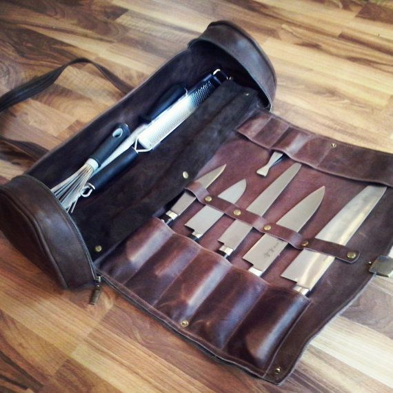 Chef Leather Bag - Professional Chef's Leather Bag - Chefsware - Chef Gift  - chef knife -  chef knife roll - Gifts For Chef