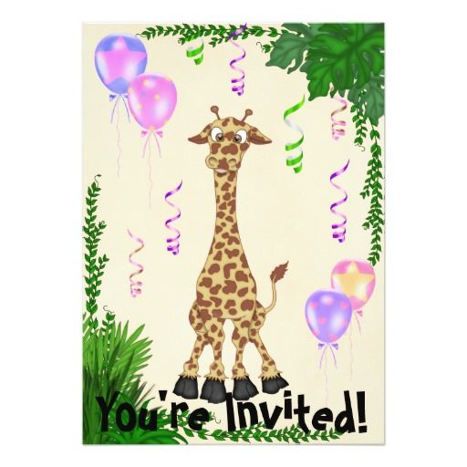 390 best images about Zoo and Safari Animals Birthday Party – Giraffe Party Invitations