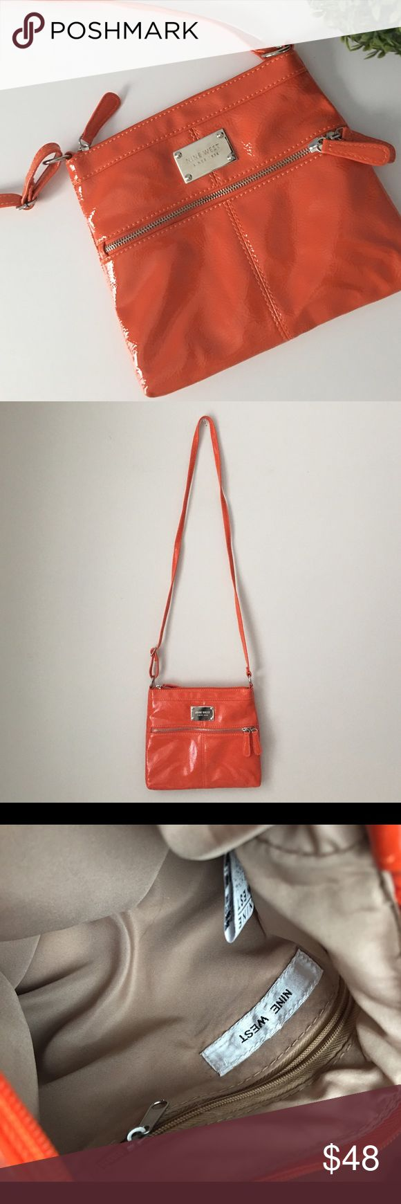 Nine West Orange Patent Crossbody Gorgeous orange patent Crossbody by Nine West. Nine West Bags Crossbody Bags