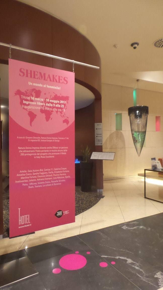 Mostra SheMakes visitabile sino 16 maggio 2017 al THotel di Cagliari. Progetto #ontour di Natura Donna Impresa.