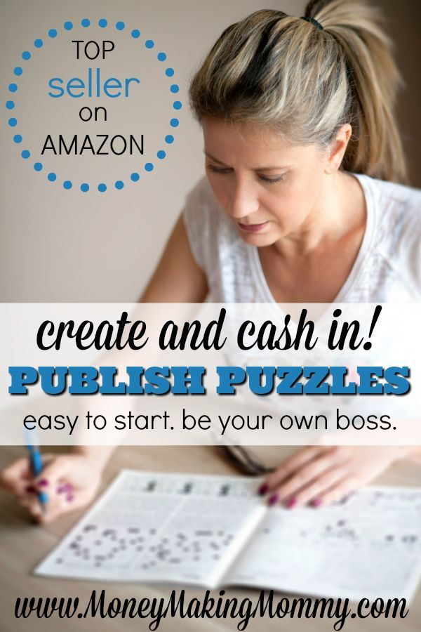 Did you know that puzzle books are in the top 1% of all book sales on Amazon? Yep. And did you know that there are people just like you and I out there creating puzzle books and cashing in?! If this sounds like an idea that you want to try -- you can! Learn how to create and publish puzzle books. An expert shows you how! MoneyMakingMommy.com