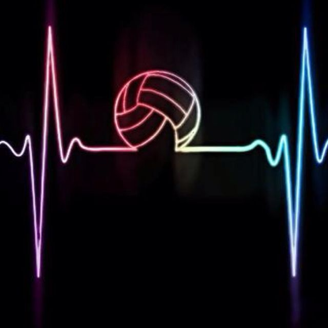 #Volley heartbeat! We love volleyball!