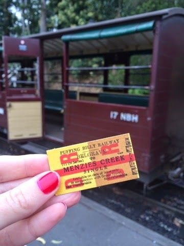 FIT_TRAVELS - Old fashioned boarding ticket for the Puffing Billy train