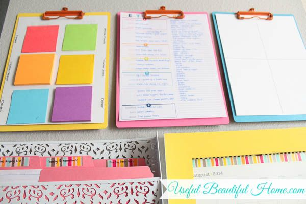 colorful command center for back-to-school organization