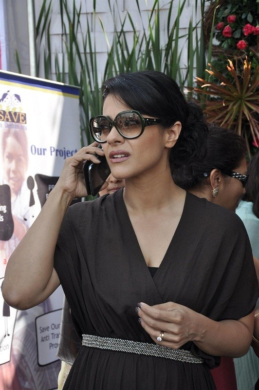 Kajol at The Aariash Charity for Save The Children NGO.