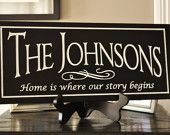 Personalized Family Name Mirror Established by mrcwoodproducts
