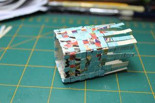 Myrtle Manor Miniatures: Woven Box Tutorial