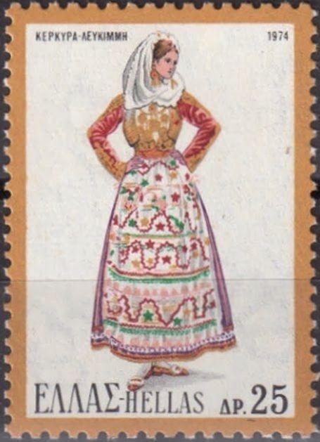 Η νυφική και γιορτινή φορεσιά Κέρκυρας όπως αυτή συνηθίζεται στην περιοχή κυρίως της Λευκίμης. Εσωτερικά φέρει λευκό πουκάμισο και ένα μεσοφόρι με πολλές σούρες. Από πάνω φοριέται η εξωτερική πολυτελής φούστα, ενώ το στήθος καλύπτει ένα είδος λευκής τραχηλιάς πάνω στην οποία προσαρμόζονται όλα τα κοσμήματα της φορεσιάς. Το γιλέκο είναι αμάνικο και αφήνει ακάλυπτο όλο το στήθος ενώ το εξωτερικό μανικωτό, βελούδινο κοντογούνι είναι ολοκέντητο. Τη μέση σφίγγει η χρυσόζωνη. Από αυτήν κρέμονται…