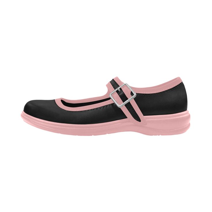 """New """"baby"""" designers shoes. Vintage black and pink Virgo Instep Deep Mouth Shoes."""