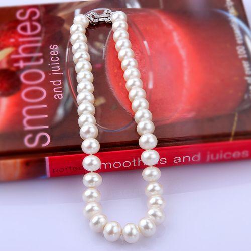 12mm White Round Pear Necklace Silver Heart Shape Locker