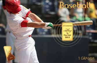 Baseball - Karatbar Gold collectors cards with Team logo. The new must have Collector Cards for Baseball fans around the world.