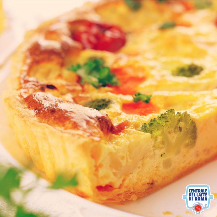#Tortasalata con #verdure: broccoli, pomodorini, carote e cavolfiori...w i colori in cucina!  #ItalianFood