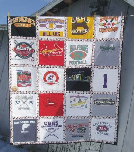 Craft a one-of-a-kind quilt from T-shirts. Make a memory quilt, a graduation present or a going away to college gift. This tutorial includes everything you need to know to create your own Tshirt quilt