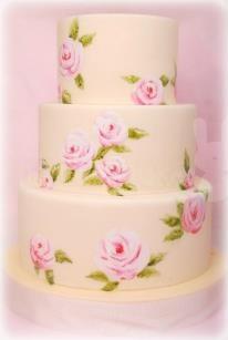 shabby birthday cake