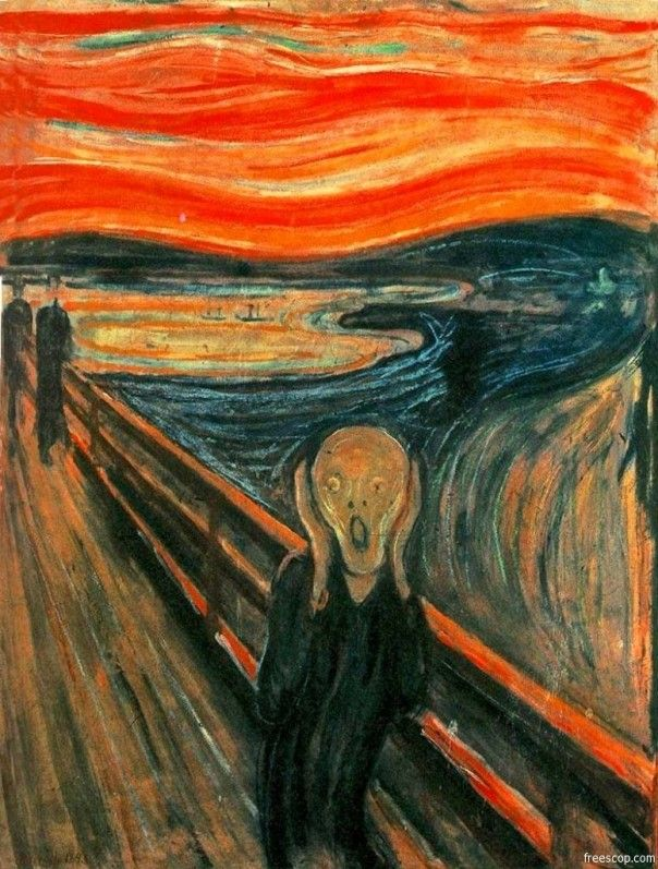 Edvard Munch Most Famous Paintings - The Scream I was lucky enough to see this on special display at MOMA when the hubby and I took a trip to NYC. BTW, Please Check Out This Artist's work: -- http://universalthroughput.imobileappsys.com/site2/gallery.php