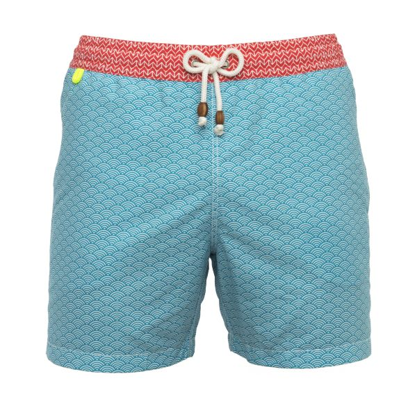 Maillot de bain homme Gili's Turquoise Waves