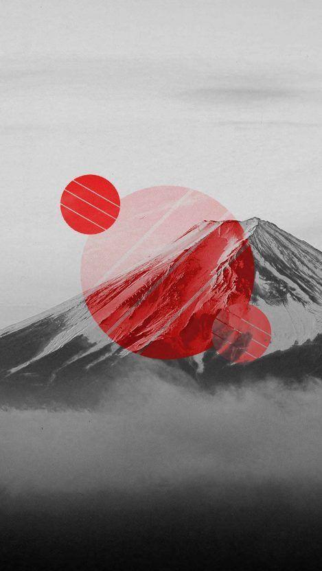 Mount Fuji Polyscape Iphone Wallpaper Jdm Wallpaper Iphone Wallpaper Chinese Wallpaper