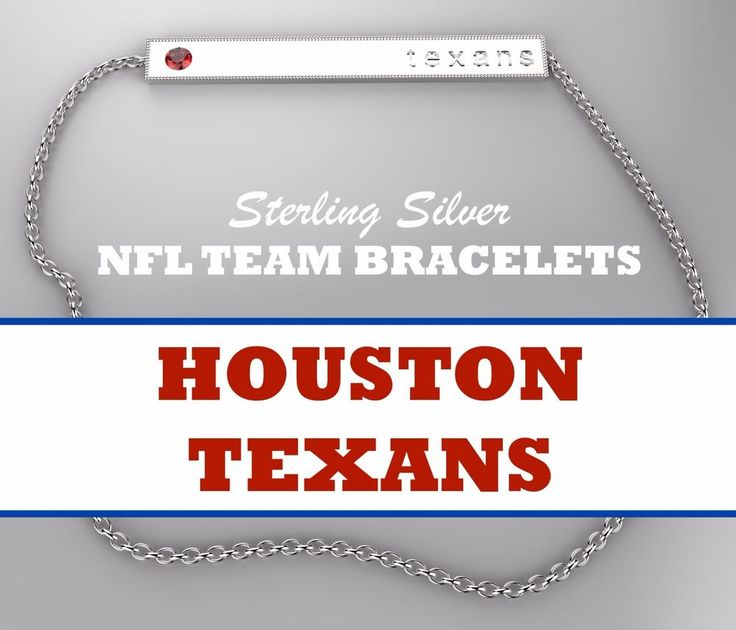 HOT NEW Womens NFL Jewelry HOUSTON TEXANS Sterling Silver Bar Bracelet w/ Red CZ #BarBracelet #HoustonTexans #cincinnatibengals #bengals #cincinnati #clevelandbrowns #browns #cleveland #dallascowboys #cowboys #dallas #texas #denverbroncos #broncos #denver #detroitlions #detroit #lions #greenbaypackers #packers #greenbay #houstontexans #houston #texans #indianapoliscolts #colts #indianapolis #jacksonvillejaguars #jaguars #jacksonville #kansascitychiefs #kansascity #chiefs