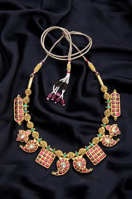 Ruby tukdi necklace