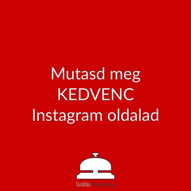 Neked melyik a kedvenc Instagram oldalad?  Említsd meg hozzászólásban! #instagrammarketing #hotelinstagram #turizmustrend #bestinstagram