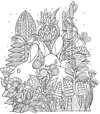 Bunny Coloring Pages For Adults Design