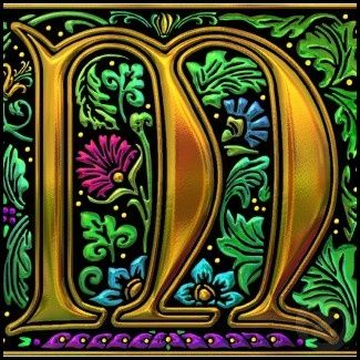 Celtic Illuminated Letter M