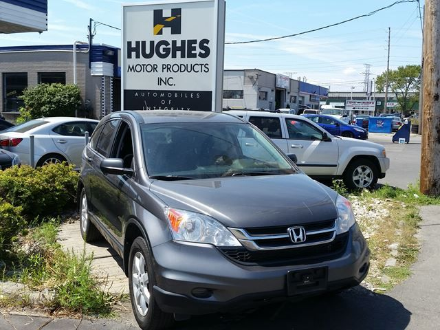 2011 Honda CR-V LX 4WD 5-speed automatic passenger wagon comes with complete power package including heated power mirrors, privacy glass, engine immobilizer, A/C,  intermittent wipers, cloth front bucket seats, rear window wiper. #Honda #usedcar Shawn: 416-252-1100 info@hughesmotorproducts.com