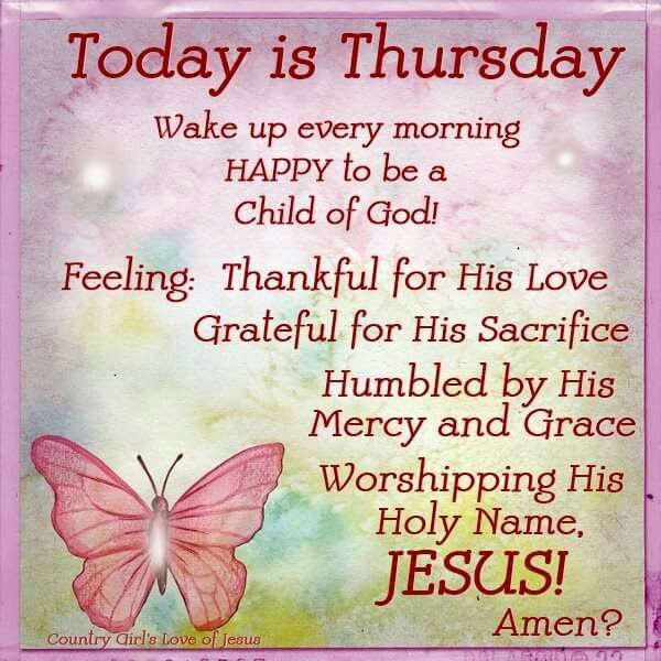 Thursday Blessings!