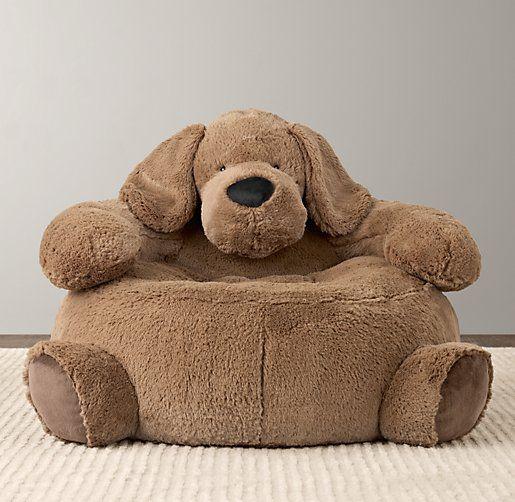 Cuddle Plush Dog Chair   Nursery Accessories   Restoration Hardware Baby & Child