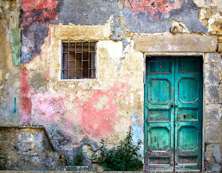 Old Door, Modica Sicily, Turquoise Door Photo, Colorful Facade, Distressed Building, Sicily Travel, Sicily Wall Art, Art Photo by PaulMontecalvoPhoto on Etsy https://www.etsy.com/listing/270916468/old-door-modica-sicily-turquoise-door