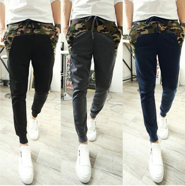 Military Patchwork Sweat Pants (M-XXL)
