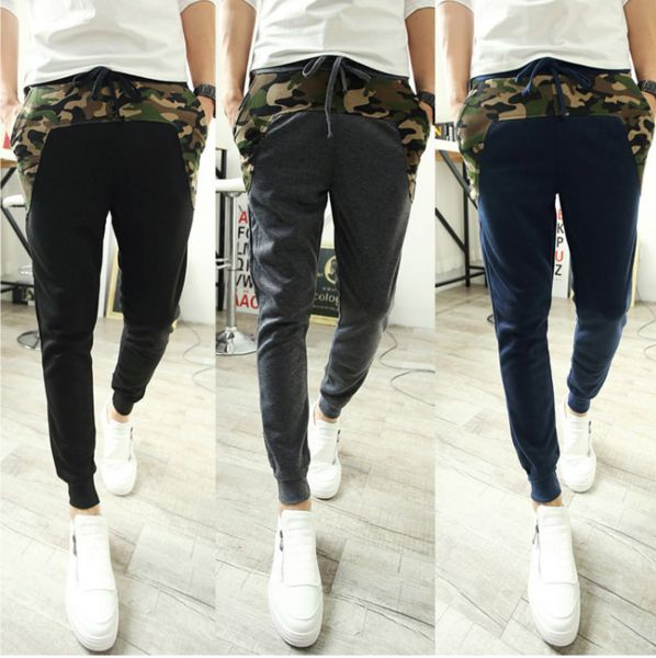 Military Patchwork Sweat Pants (M-XXL)