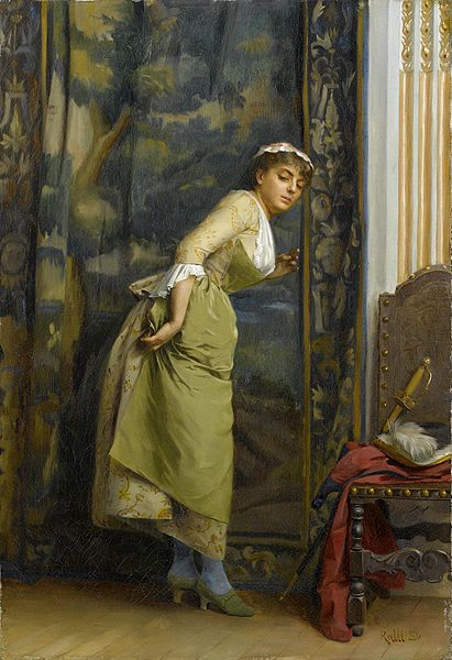 Theodore Jacques Ralli (1852-1909), Eavesdropping (Listening