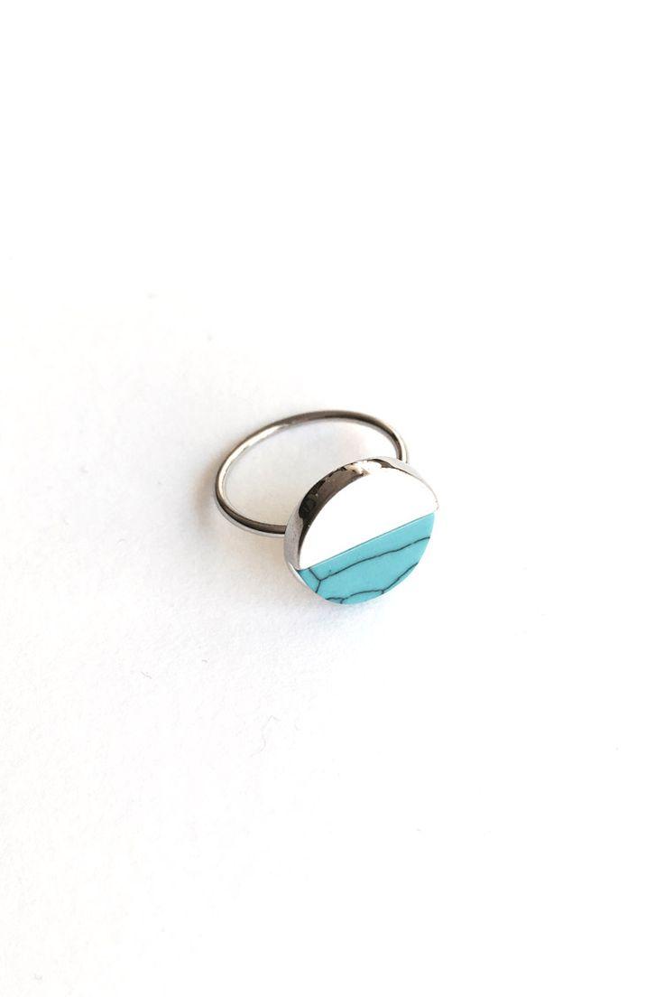 Blue Marble Δαχτυλίδι - Ασημί - 9,90 € - http://www.ilovesales.gr/shop/blue-marble-dachtylidi-asimi/